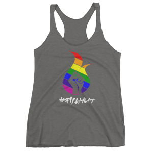 Rainbow #fiyahlit wm tank-gray