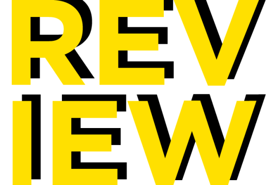 """""""REVIEW"""" in Black and gold"""