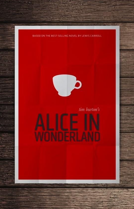 alice minimalistic movie posters