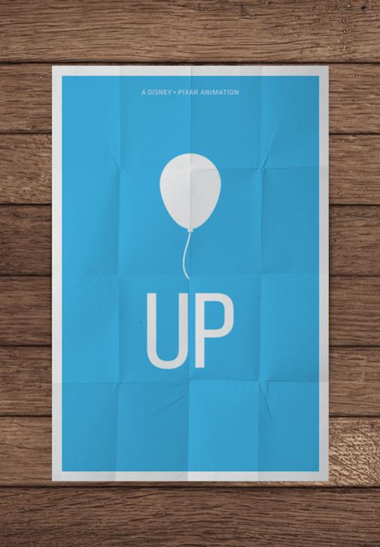 up minimalistic movie posters