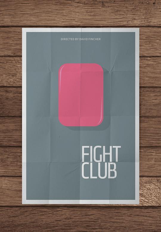 fight club minimalistic movie posters