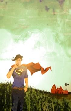 stylized superheroes