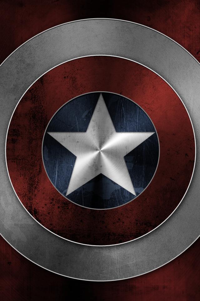 captain america shield retina wallpaper