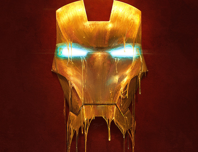 iron man melting fan art