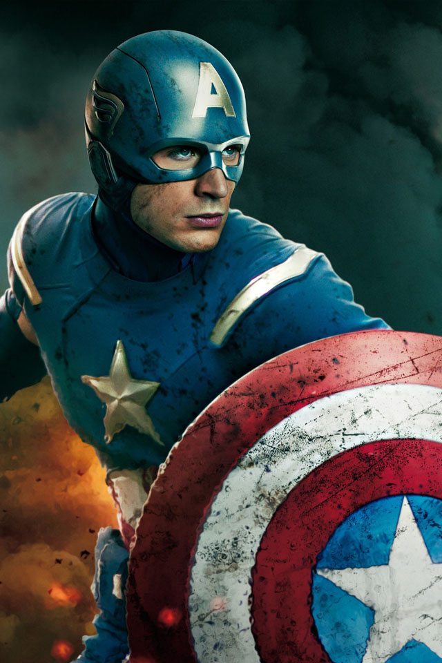 captain america retina wallpaper