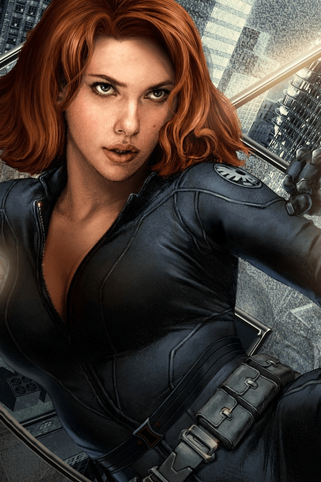 sexy black widow retina wallpaper