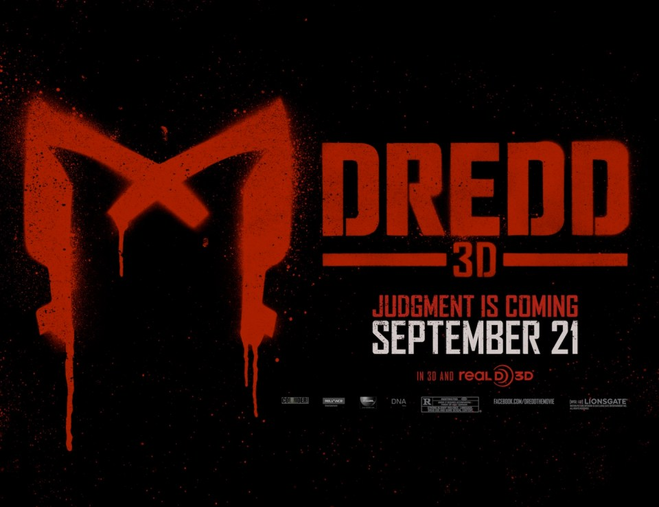 DREDD 3D - Cool new Poster Art