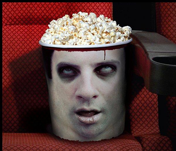 Zombie Head Popcorn Bucket