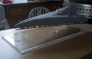 Light-Up Star Destroyer Birthday Cake