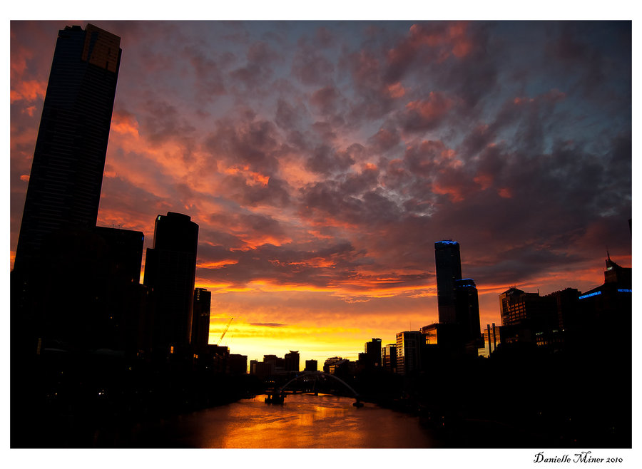 Taken at sunset in Melbourne City
