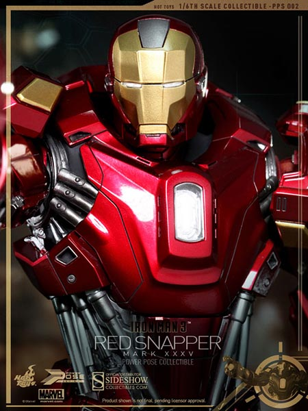 "Hot Toys' Iron Man Mark XXXV ""Red Snapper"" Armor"