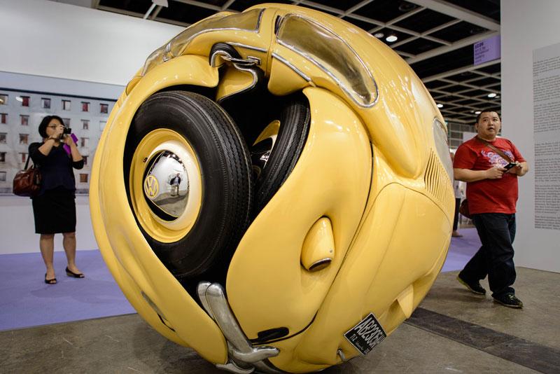 Art Basel show Beetle Sphere - FizX