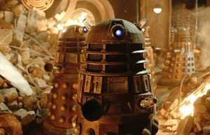 Flaming Daleks Of The Doctor Who