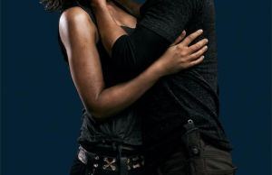 The Walking Dead's Glenn and Maggie Kissing