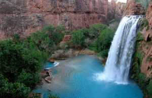 Waterfall Inside the Grand Canyon