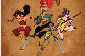 Teenage Disney Ninja Princesses