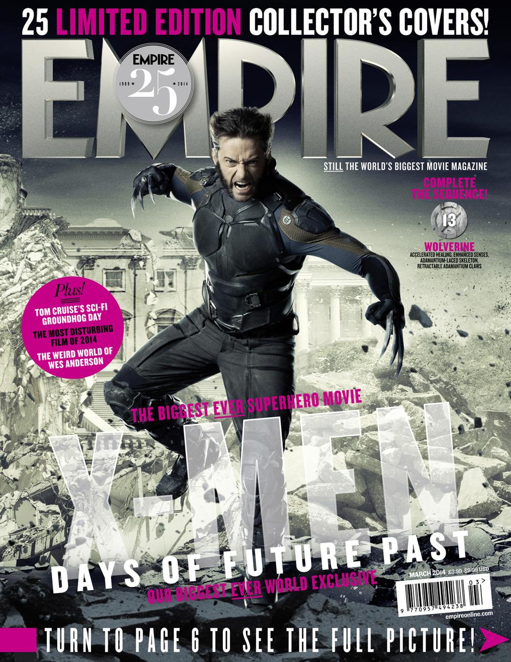 X-MEN DAYS OF FUTURE PAST Empire Magazine Covers  (5)