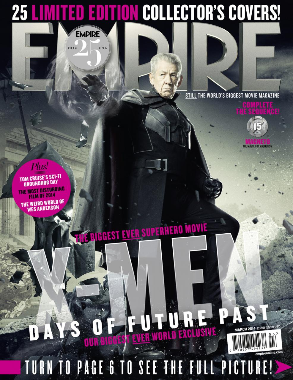 X-MEN DAYS OF FUTURE PAST Empire Magazine Covers  (8)