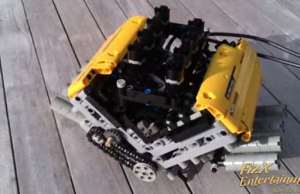 LEGO V8 Engine Joined By A Six Speed Tiptronic Sequential Gearbox