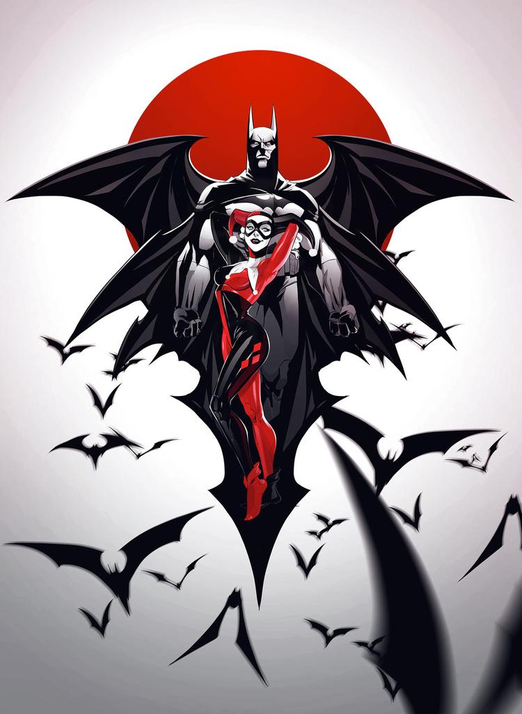 Batman and Harley Quinn Poster