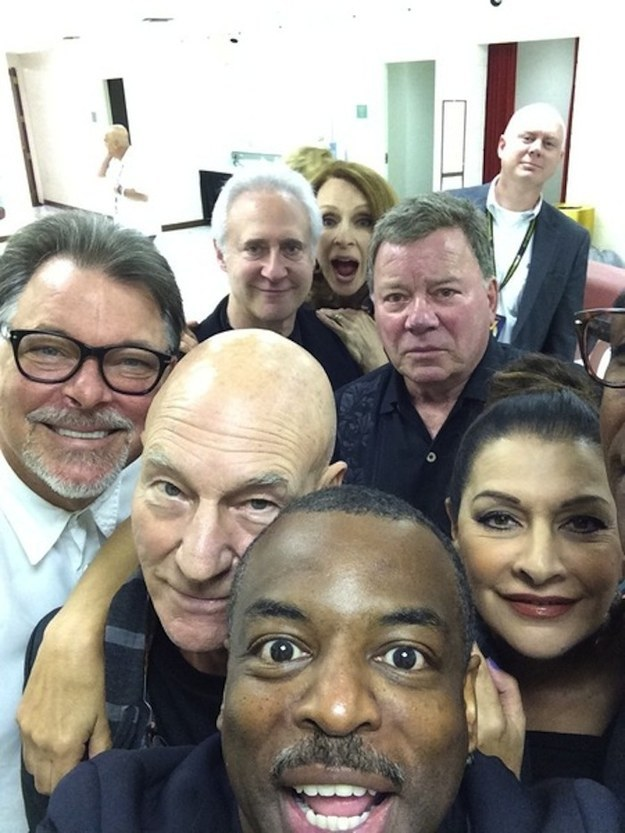 The Star Trek: The Next Generation Reunion Selfie