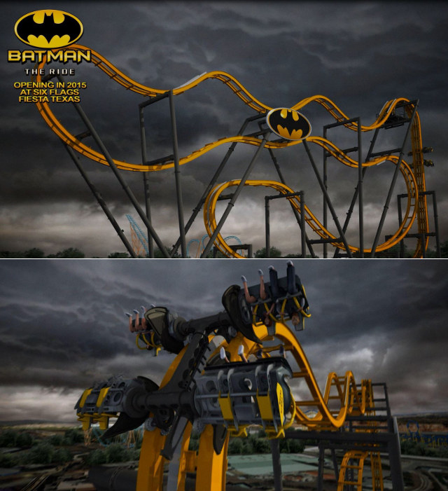New Terrifying Batman Roller Coaster At Six Flags