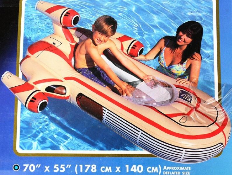 Inflatable STAR WARS Landspeeder Boat Lounge