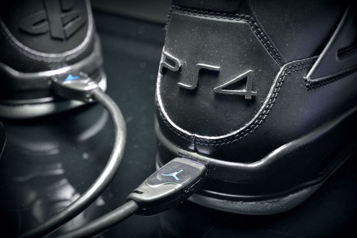 Custom PS4 Air Jordan Sneakers, Complete With HDMI Ports