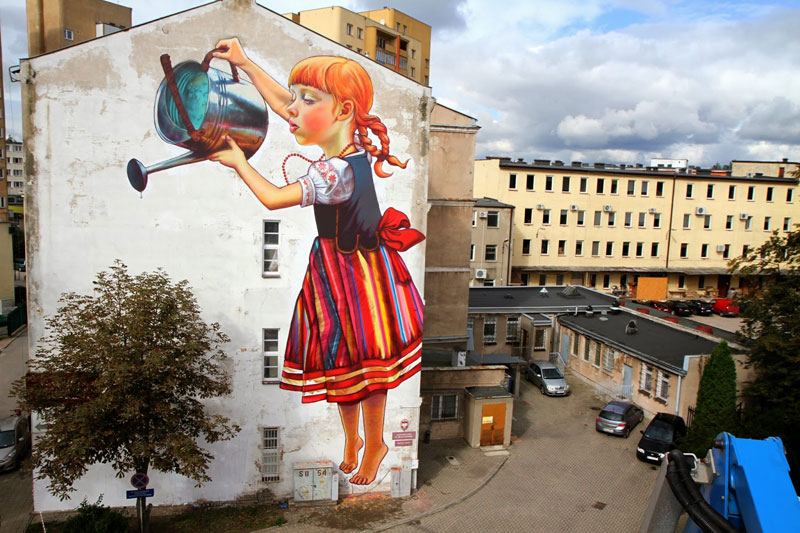 Gigantic Street Art Portrait by Natalia Rak
