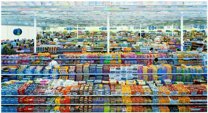 "Andreas Gursky: ""99 Cent II Diptychon"" (2001)"