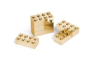 Gold Plated Metal Building Brick Set