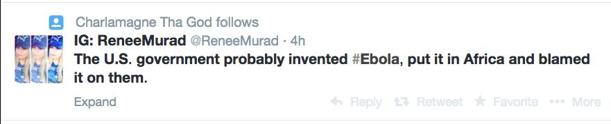 twitter responses to ebola