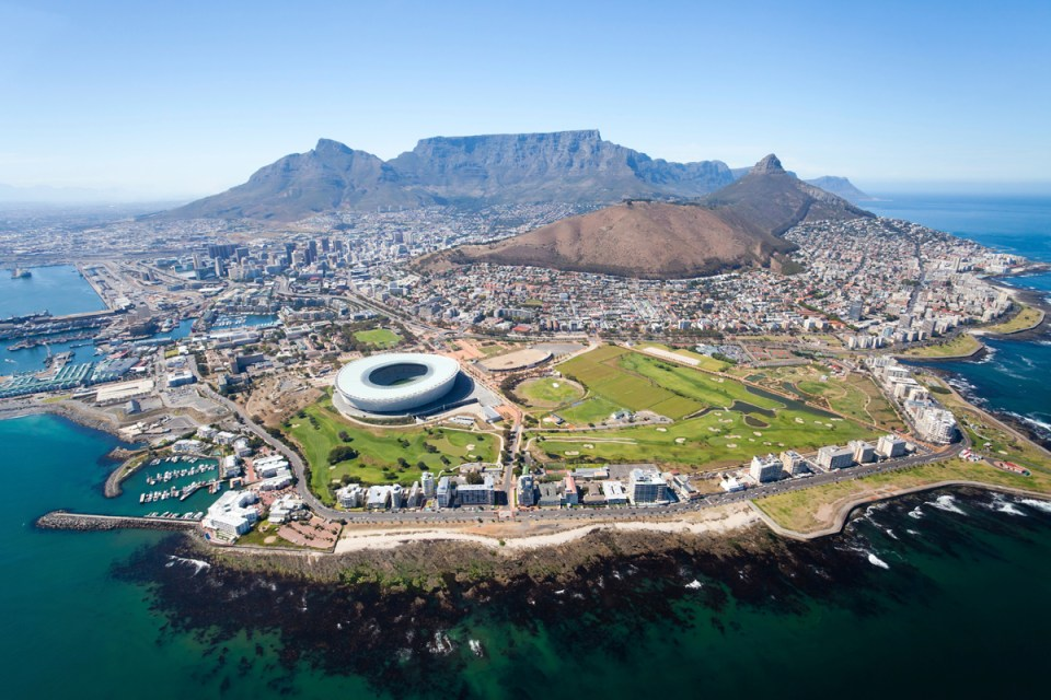 Cape Town from Helicopter
