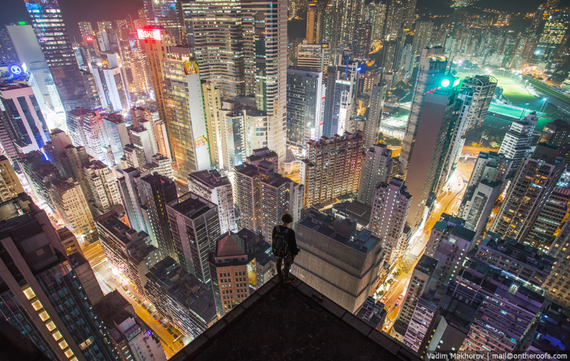 Hong Kong From The Roof Top