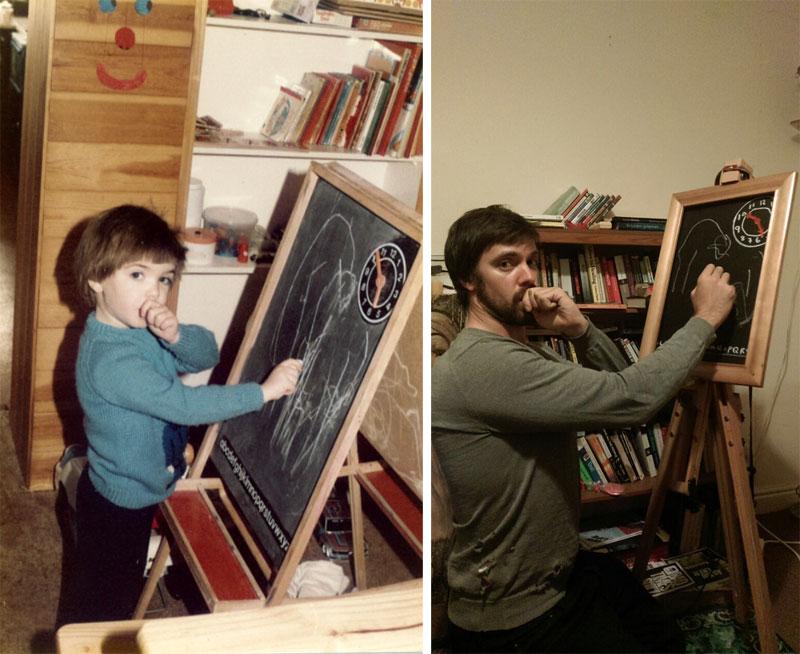 Brothers Recreate Childhood Photos