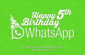 WhatsApp 5th anniversary infographic