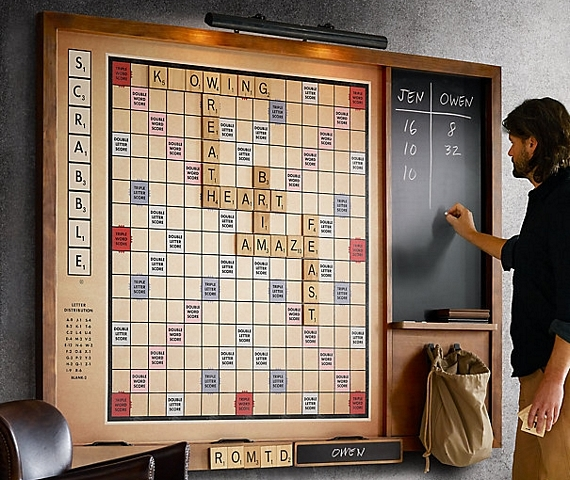 Excellent Scrabble Is Transformed Into A Party Piece With This Wall Uwap Interior Chair Design Uwaporg