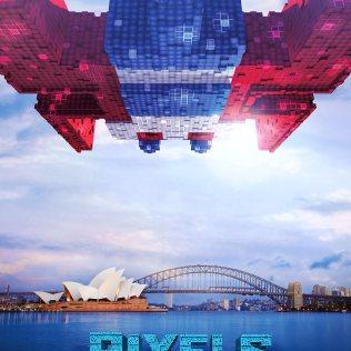 Pixels Galaga Movie Poster