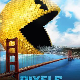 Pixels Pacman Movie Poster