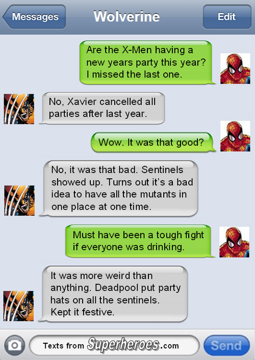Christmas Texts from Superheroes (4)