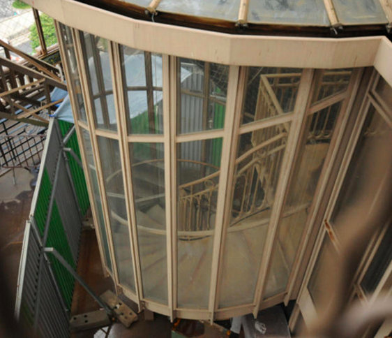 There Are Vintage Spiral Staircases, No Longer Used By The Public