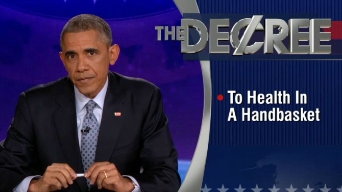 President Obama Takes Over the Colbert Report