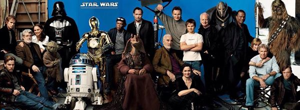 All cast members from six Star Wars movies