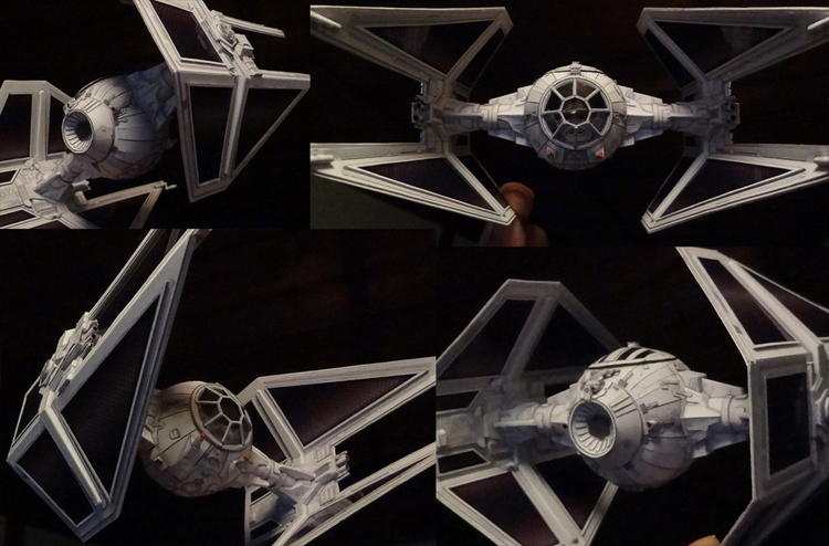 Highly Detailed STAR WARS Ships Made of Paper (2)