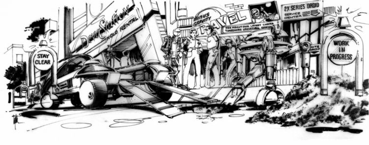 Never Seen Before BACK TO THE FUTURE 2 Concept Art