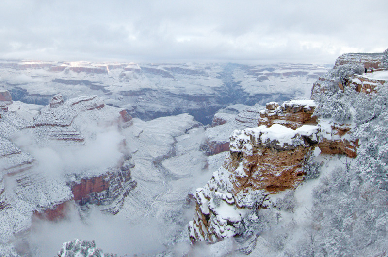 Snow In Grand Canyon