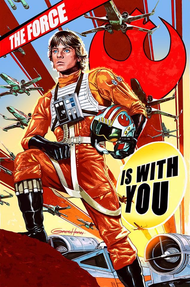 Luke Skywalker Cover Art by Greg Horn