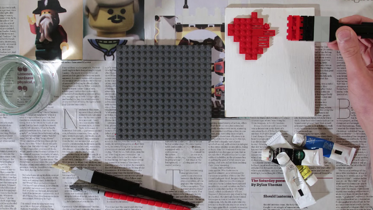 LEGO Painting in Creative Stop-Motion Video