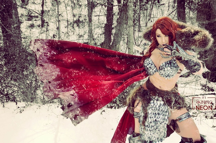 Red Hot Cosplay Of Red Sonja