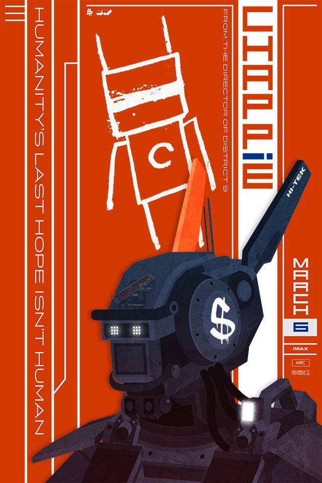 Neill Blomkamp's Sci-Fi Film CHAPPIE Poster Art